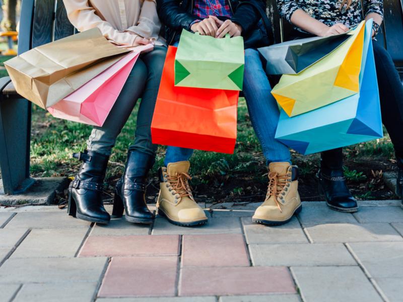 Some women shopping