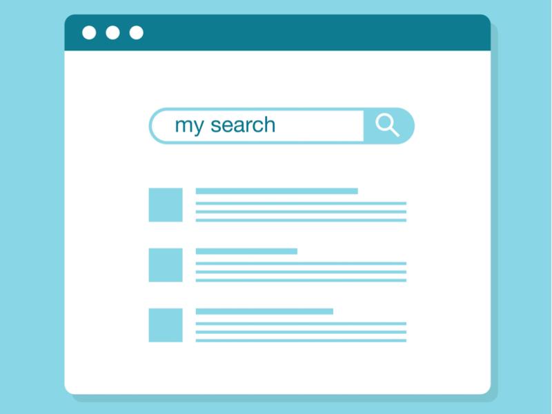 """La pantalla de búsqueda donde pone """"My search"""""""