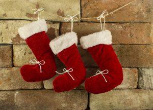Tres calcetines de Papá Noel