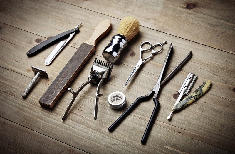 Herrenfriseur Werkzeuge