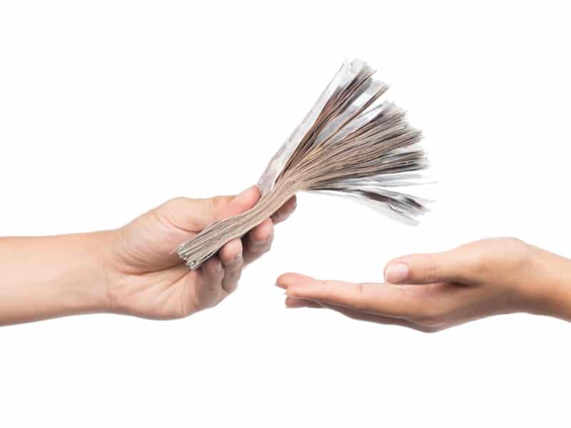 Bargeld Zahlung