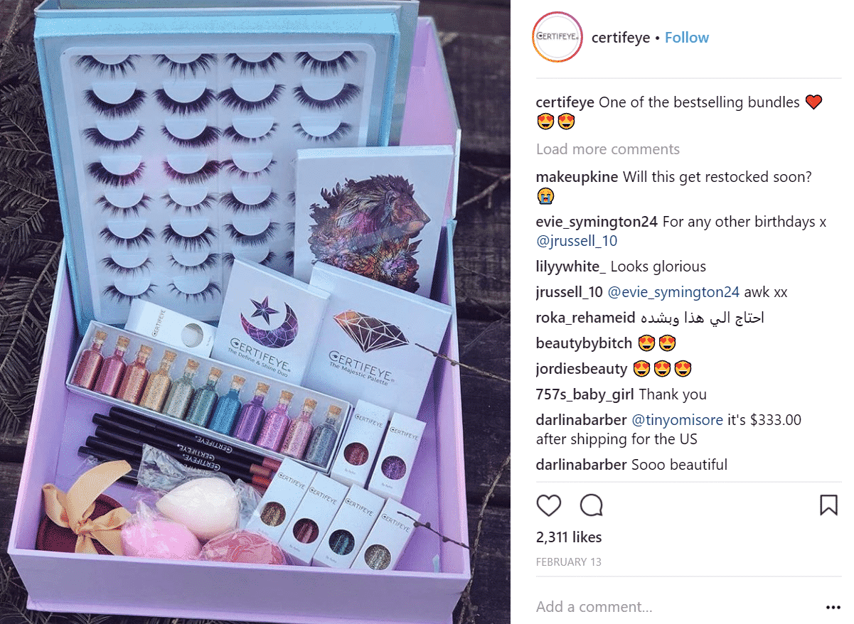 screenshot of a professional instagram account featuring good images