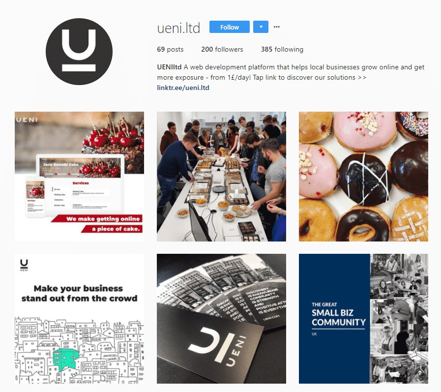 ueni instagram home page