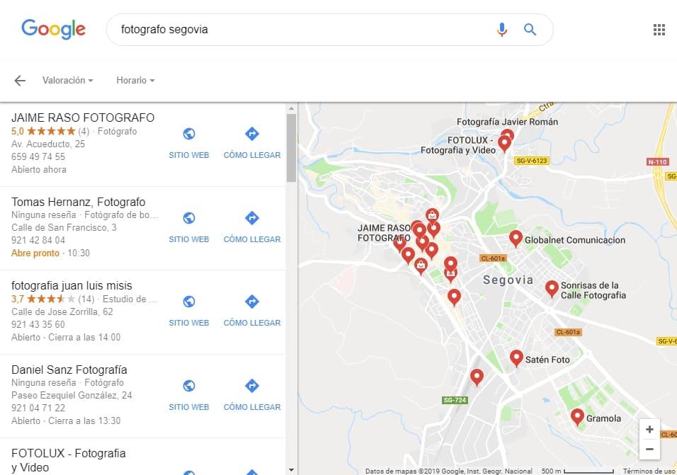 como abrir crear pagina web profesiona gratis google maps
