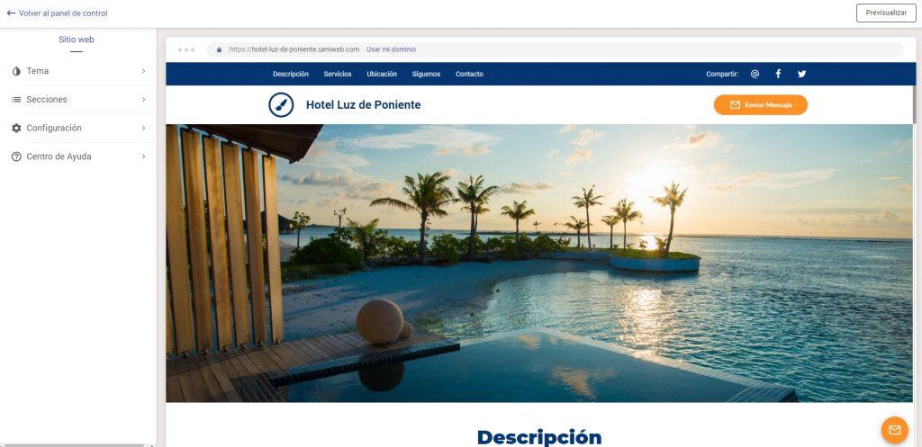 pagina web profesional editar contenido