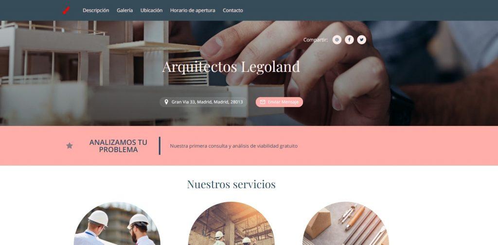 crear pagina web profesional promociones