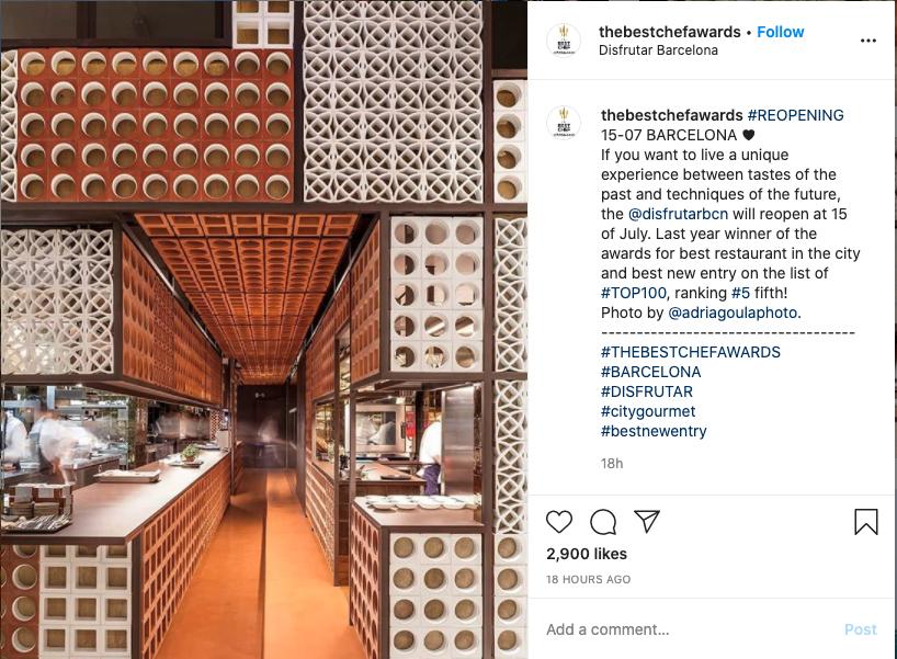 Instagram Reopening Post