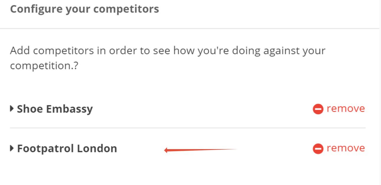 Configure Competitor