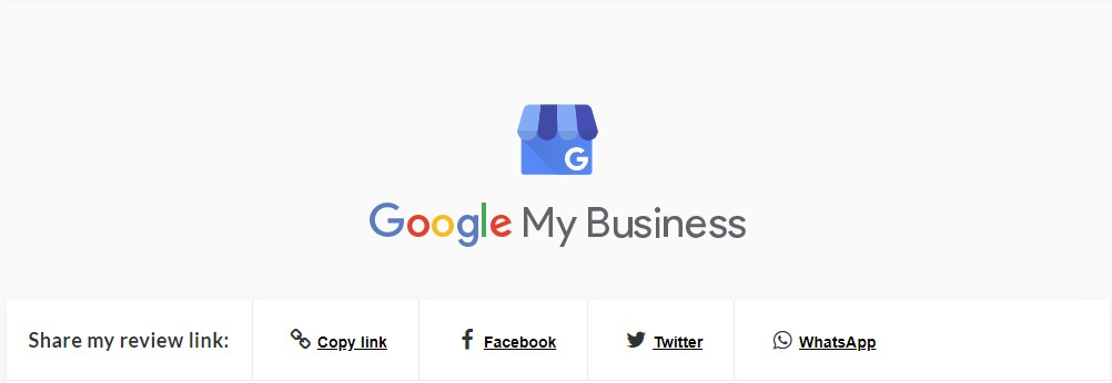 A Screenshot of the Google My Business in the Hub