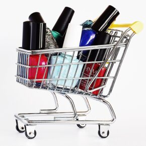 Shopping trolley with some items