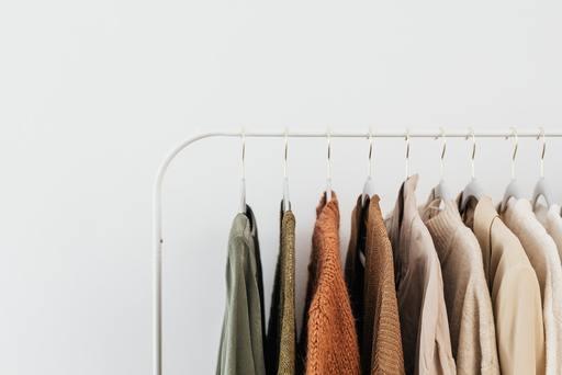 Coats on a rack