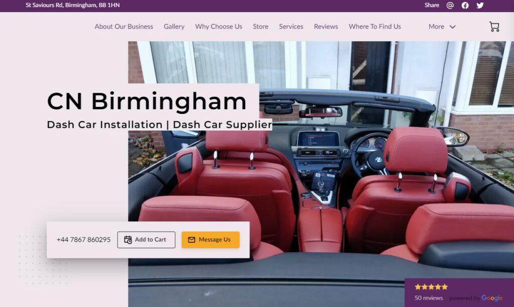 A screenshot of CN Birmingham's Home Page