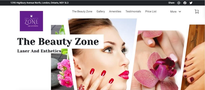 A Screenshot of The Beauty Zone, a UENI-made Beauty parlour