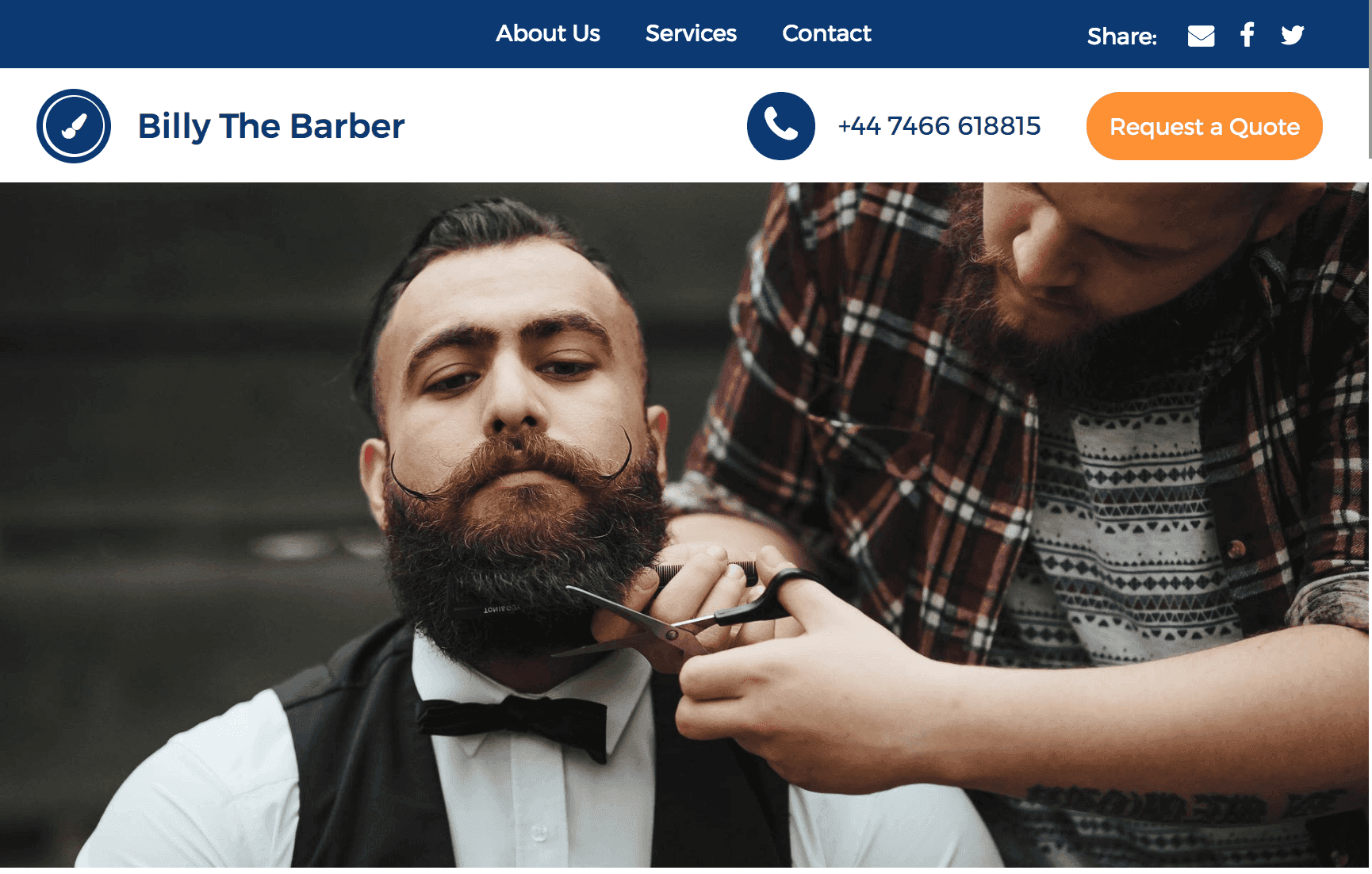 Ueni Barber Website