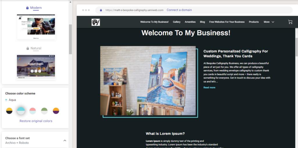 A screenshot of the UENI theme editor