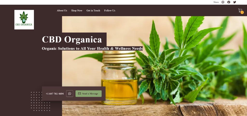 CBD Organica small business website