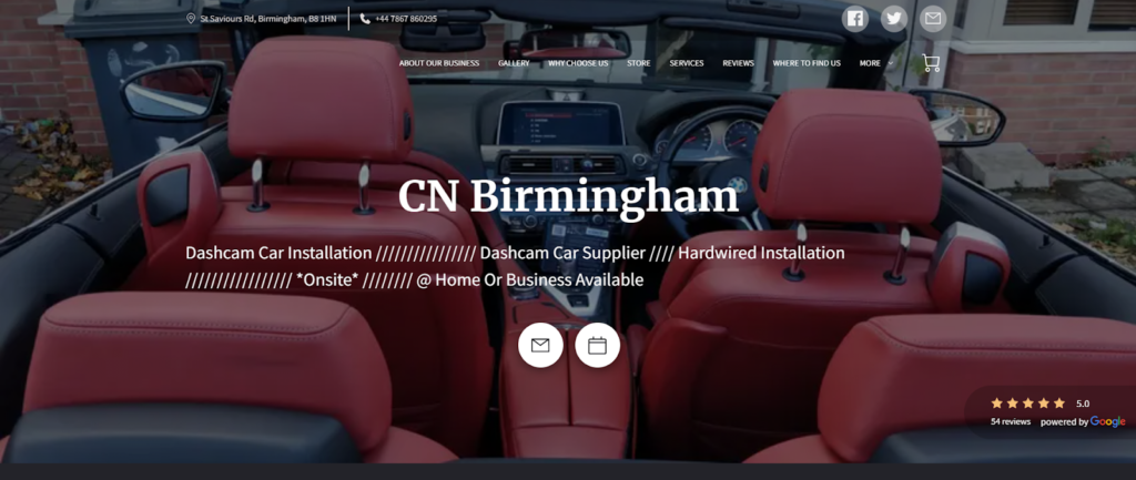 CN Birmingham Car Electrics website