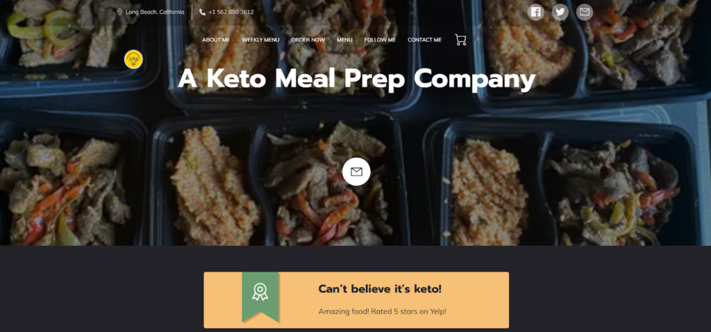 Keto Meal Prep and Catering by Lee - small business website built by UENI
