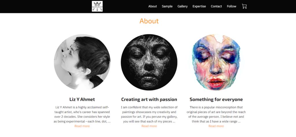 Liz Y Ahmed website