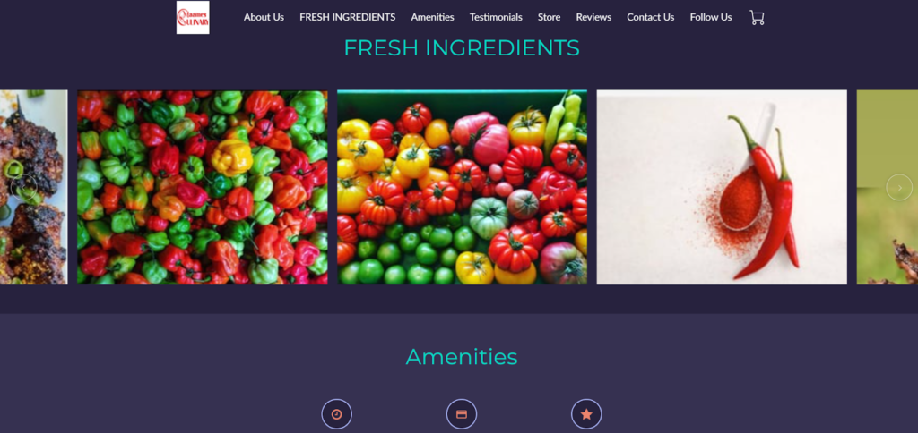 Maames Culinary Food small business website