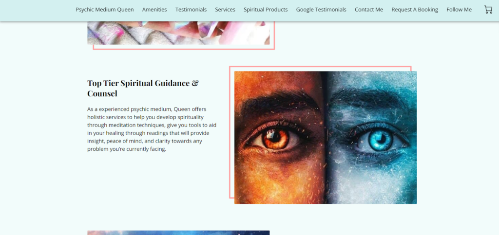 Psychic Medium Queen website