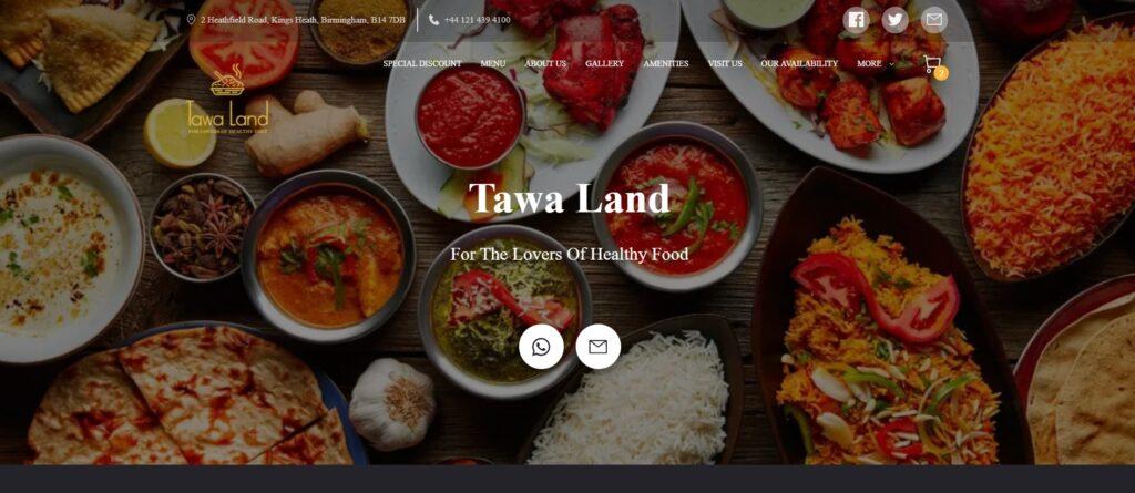 Tawa Land, Indian and Bangladeshi restaurant & takeaway