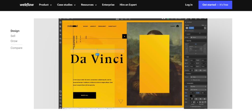 a Webflow landing page