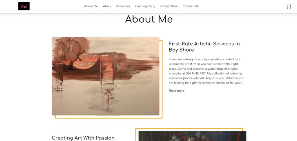 DJA Fine Art online portfolio