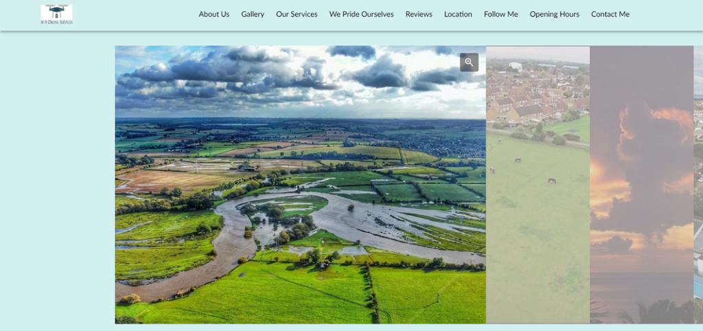 MH Drone Services Online Portfolio website