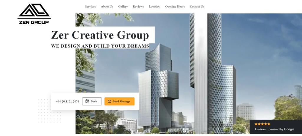 Zer Group portfolio website