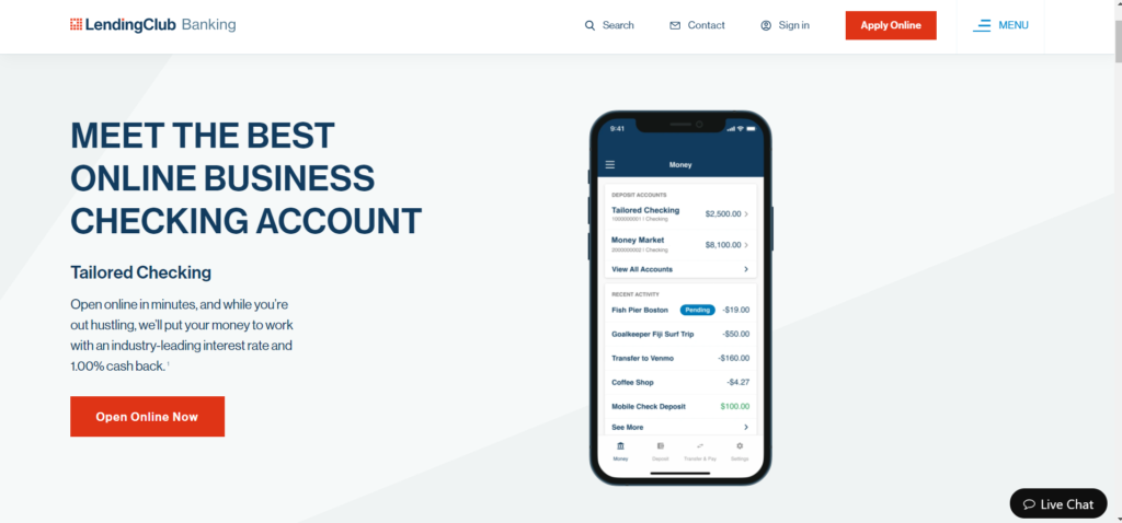 Lending Club Tailored Checking Account
