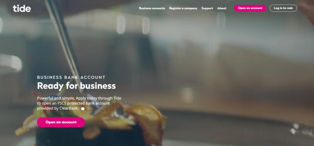 Tide Business Account Screenshot