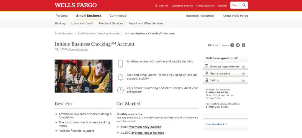 Wells Fargo Business Checking Account