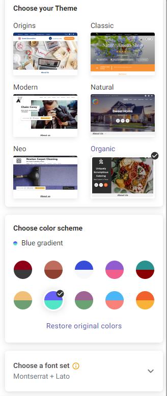 UENI's new Theme Selection UI