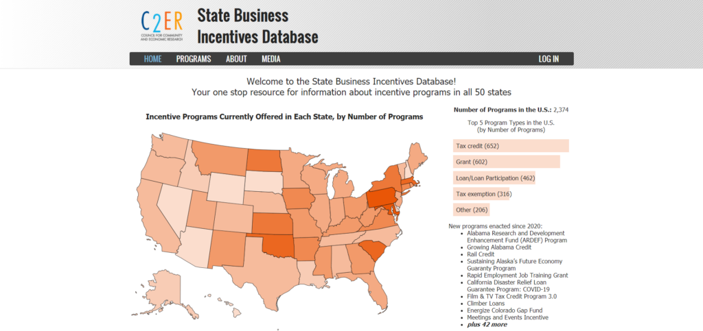 State Business Incentives Database