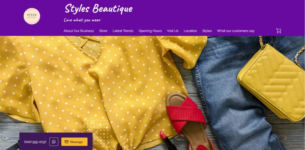 Styles Boutique, a website created on UENI's Neo Theme