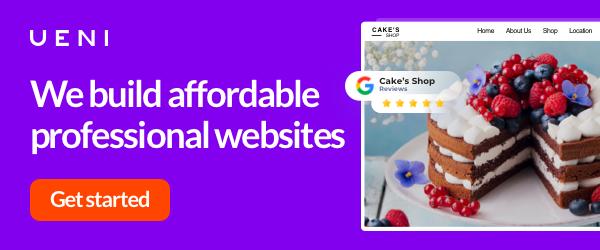 We build affordable professional websites
